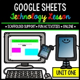 Google Sheets - Technology - Special Education - Practice Activities - Unit One
