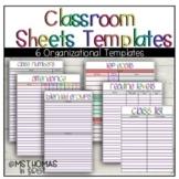 Google Sheets Templates   Class Lists   Attendance   IEP Goals   and more!