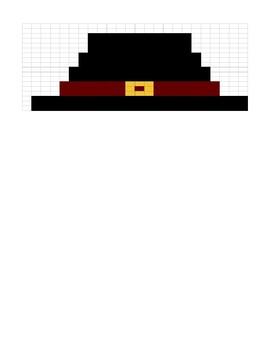 Google Sheets Thanksgiving Fill In #2 - Pilgrim Hat