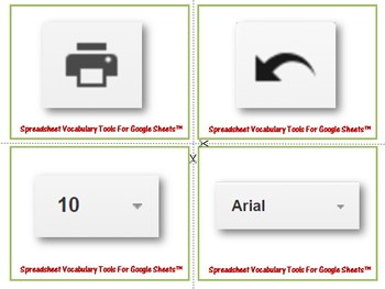 Google Drive Sheets - Tools Vocabulary Card Match (25 Cards)