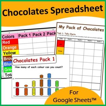 Google Sheets and Graph Skills - M&M's Scenario