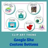 Google Site Buttons - Clip Art Theme