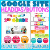 Google Site Headers and Buttons | Rainbow Colors