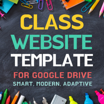 google sites class website template by the lost teacher tpt