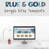 Google Sites Template   Blue & Gold