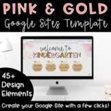 Google Sites Template   Pink & Gold
