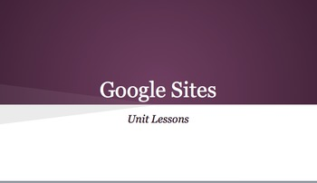 Google Sites- Two Day Professional Development/Lesson Plan