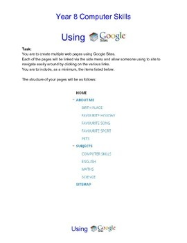 Google Sites lesson idea