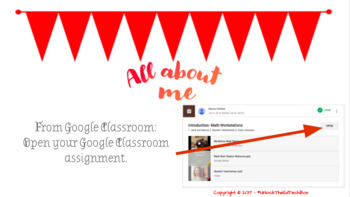 """Google Slide """"About Me"""" Project for Your Students - Great Way to Learn Slides"""