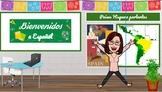Google Slide Welcome Back to School Q&A Bienvenidos Preguntas y respuestas Free
