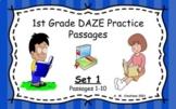 Google Slides 1st Grade DAZE Practice Passages Set 1 #1-10