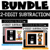 Google Slides™ 2 Digit Subtraction with and without Regrouping {Fall}