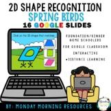 Google Slides 2D Shape Match - Spring Bird Theme - Distanc