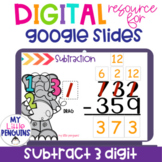 Google Slides: 3 Digit Subtraction WITH Regrouping   Dista