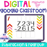 Google Slides: 4 Digit Subtraction WITH Regrouping   Dista