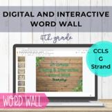 Google Slides Word Wall 4th Grade Geometry - Digital & Int