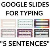 """Google Slides - """"5 Sentences"""" Slides"""