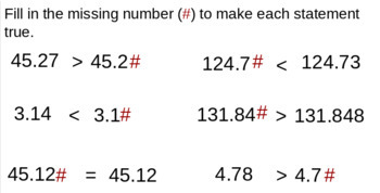 Google Slides Activity - Expanded Notation, Rounding, Comparing