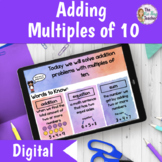 Adding Multiples of Ten Lesson for Distance Learning