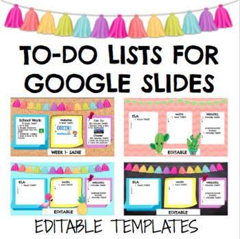 Google Slides Agendas Distance Learning