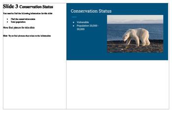 Google Slides Animal Presentation Project Directions Lesson PBL