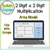 Google Slides Area Model 2 Digit by 2 Digit Multiplication (Google Classroom)