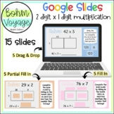 Google Slides Area Model 2 digit by 1 digit Multiplication