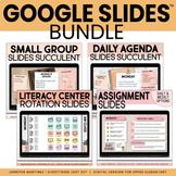 Google Slides™ BUNDLE   Daily Agenda, Materials, Station R