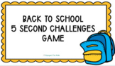 Google Slides Back to School 5 Second Challenges Virtual M