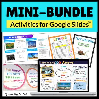 Google Slides Back to School Activities BUNDLE