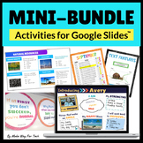 Google BUNDLE End of the Year Slideshow, Graphic Organizers,Mindset,All about Me