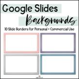 Google Slides Backgrounds - 10 Gradient Border Frames / COMMERCIAL USE!
