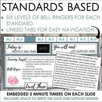 Distance Learning Digital Bell Ringers Mega Bundle for Middle School ELA