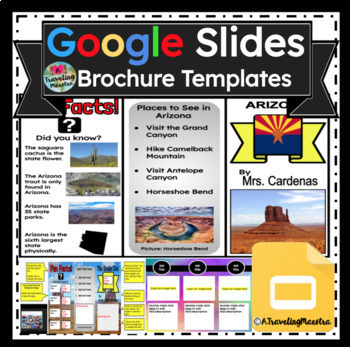google slides brochure editable template by teacher on board tpt