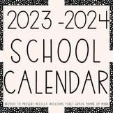 Google Slides Calendar 2021-2022 Updated Yearly