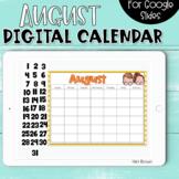 Google Slides Calendar   August