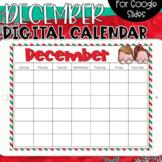 Google Slides Calendar | December