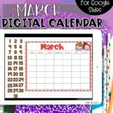 Google Slides Calendar | March