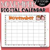 Google Slides Calendar | November