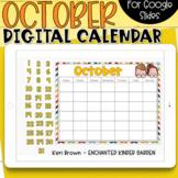 Google Slides Calendar | October
