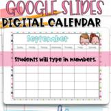 Google Slides Calendar   September