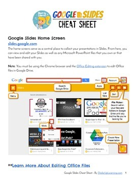 Google Slides Cheat Sheet for Teachers and Students