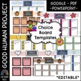 Google Slides Choice Board Templates- Monthly   Editable   English & Spanish
