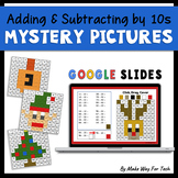 Christmas Math (and Hanukkah) Adding and Subtracting by Tens Mystery Pictures