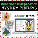 Christmas Mystery Picture Multiplication | Christmas Color