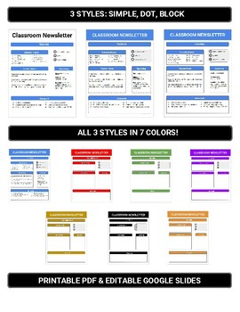 Google Slides - Classroom Newsletter
