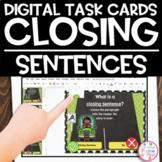 Google Slides | Closing Sentences | Digital Task Cards