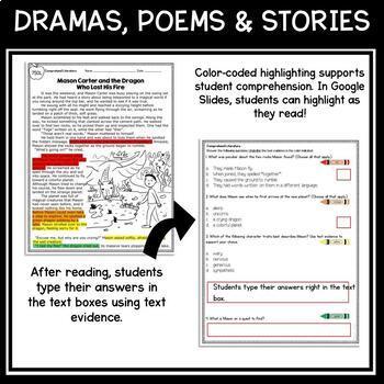 Google Slides Comprehend Literature - 4th & 5th RL.4.10 / RL.5.10