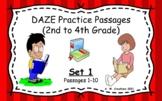 Google Slides DAZE Practice Passages Set 1 #1-10 DIBELS (2nd-4th)