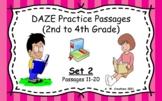 Google Slides DAZE Practice Passages Set 2 #11-20 DIBELS (
